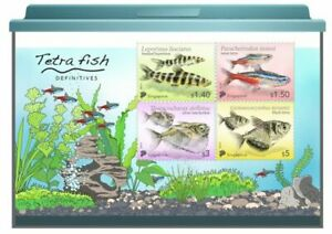 SINGAPORE 2021 TETRA FISH HIGH VALUES COLLECTOR'S SHEET OF 4 STAMPS IN MINT MNH