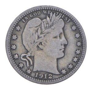 Better 1912 - US Barber 90% Silver Quarter Coin Collection Set Break *275