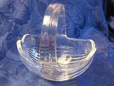 Geschenk: Kristallkorb,Henkelschale,Konfektschale,oval geschliffenes Glas,top