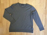 Merino Wool Jumper Womens Pure New Wool Marks and Spencer UK 18 Brown