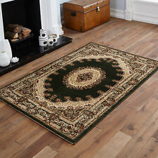 Empire Green Rug Classic Traditional Design Polypropylene Circle Round 150cm