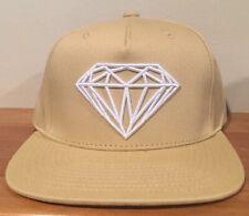 the latest a43ed 190bb Diamond Supply Co. Khaki Tan Adjustable Snap Back Flat Bill Cap