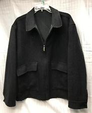 Ermenegildo Zegna Cashmere Wool Black Reversible Jacket Men's XL