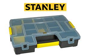Stanley 197483 Stackable Sortmaster Organiser Durable Tradesman Tool Box