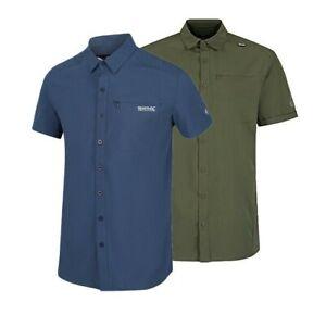 Regatta Kioga Men's Short Sleeve UV Sun Protection Button Up Shirt RRP £40