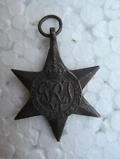 Vintage Tribal Amulet Pendant Necklaces British Medal GRJ 4th The 1939-1945 Star