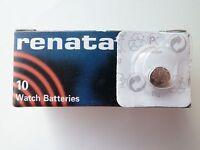 Renata Watch Battery - Swiss Made - All Sizes - Silver Oxide Renata Batteries