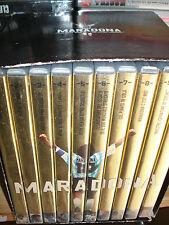 BOX COFANETTO 10 DVD MARADONA NON SARò MAI UN UOMO COMUNE NAPOLI DIEGO ARMANDO