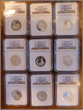 2012 Britannia Silver 25th Anniv Set, 9 1/2-Ounce Proof NGC-69(70) Coins