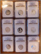 2012 Britannia Silver 25th Anniv Set, 9 1/2-Ounce Proof NGC-69(70) Coins