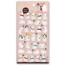 ✰ CUTE COZY BEAR STICKERS Sheet Animal Paper Foil Kid Craft Scrapbook Sticker