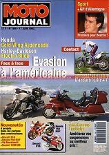 MOTO JOURNAL 1091 HONDA GL 1500 RC 45 HARLEY DAVIDSON 1340 Electra KAWASAKI KLX