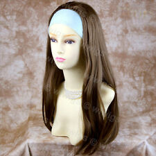 Wiwigs Light Brown 3/4 Fall Long Straight Half Ladies Wig Hairpiece
