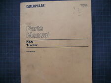 CAT Caterpillar D9G Dozer Tractor Parts Manual Book 66A crawler catalog list