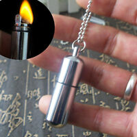 Portable Mini Waterproof Survival Lighter Camping Gear Fire Stash Pocket Keyring