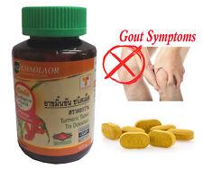 Original Khaolaor Turmeric Relieve Reflux,Gout Symptom,Anti-aging,++ 100 Tablets