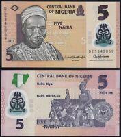 NIGERIA 5 Naira, 2016, P-38f, UNC World Currency