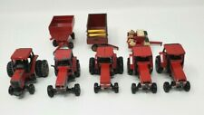 Lot of Case International 1/64 Scale Toy Tractors Wagons Planter Red