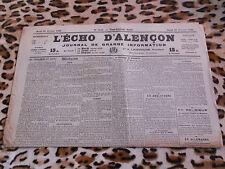 Journal - L'Echo d'Alençon n° 1415, 21/02/1922