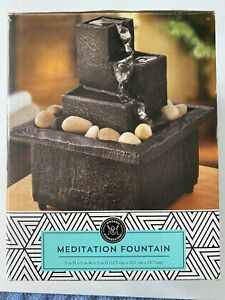 Modern Expressions - Three Tier Meditation Fountain - Battery Operated (2AA)