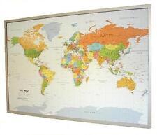Carte du monde sur liège et sur le mur - Allemand 90x60cm + 12 Pinn #199067