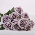 10 Heads Silk Rose Artificial Flowers Bouquet Wedding Garden Home Party Decor Uk