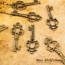 5 Bronze Antique style vintage key charms pendentif 017