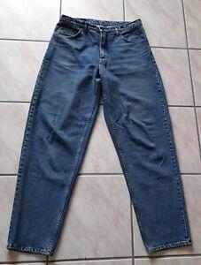 Cohn Cisco Herren Jeans Karottenform Gr. 38/40 blau W38 L40 Vintage 80er Jahre