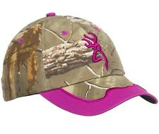 Browning Gunner Cap Realtree Xtra Magenta Pink Camo Women's Hunting Hat Cap NEW!