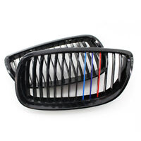 Gloss Black M-Color Kidney Grill Grille for BMW E92 E93 3 Series 06-09 Coupe ABS