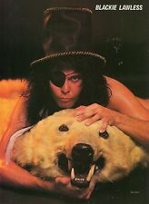 BLACKIE LAWLESS PINUP CLIPPING 80's IN EYE PATCH WASP W.A.S.P.