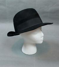 Black Fedora 7 1/2 Sz XL Scala Collection Men's Wide Brim Hat Wool Felt