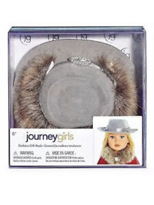 """Journey Girls Doll Fashion Gift Pack Hat & Faux Fur Collar for 18"""" Dolls NEW"""