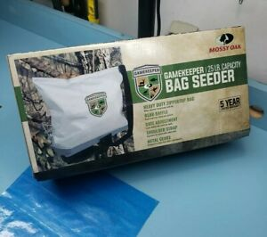 NEW Mossy Oak GameKeeper 25 lb Capacity Bag Broadcast Seeder #6324