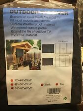 "Outdoor TV Cover Universal Weatherproof Protector for 55-65"" TV - Black"