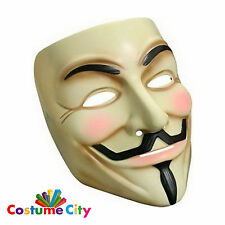 Adults Official Licensed V for Vendetta Guy Fawkes Mask Fancy Dress Accessory