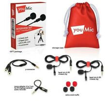 YOU MIC Interview Set Lavalier Lapel Vlog Microphone Recording Podcast