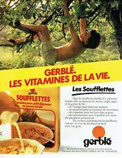 Publicité Advertising 079  1981  Gerblé  céréales soufflettes petit déjeuner