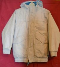Boys North Face hooded coat light Grey size M 10/12 years