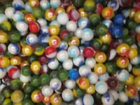 MARBLE LOT 2 POUNDS MIXED COLORS ASSORTMENT 1/2 INCH MEGA MARBLES FREE SHIPPING