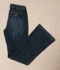 """Women's LANDS' END premium curvy fit city waist trouser leg jeans sz 6  32"""" ins"""
