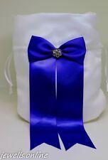 blanc bleu roi strass demoiselle d'honneur Sac Bourse accessoires de mariage