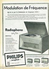 PUBLICITE ADVERTISING 115  1958  Philips  le radiophone  série Novofonic