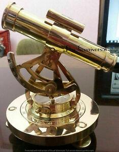 "5"" Nautical Brass Polish Telescope Theodolite Alidade Compass Surveying Gift"