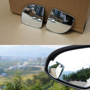 2Pcs Wind-angle Adjustable Security Car Side Rearview Mirror Convex Blind Spot