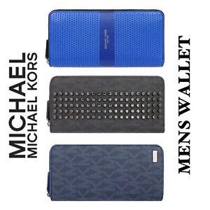 Michael Kors New Men's Long Zipper Wallets Limited Edition Jet Set, Copper Tech