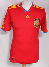 VINTAGE SPAIN HOME FOOTBALL SHIRT 09-10 ADIDAS MENS SMALL RARE