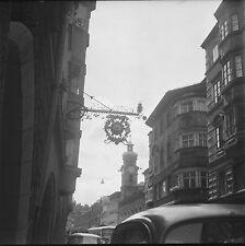 """AUTRICHE c. 1953 - Enseigne """"Hôtel Rose"""" Innsbruck - Négatif 6 x 6 - Aut 80"""
