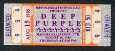 1985 Deep Purple Unused full Concert Ticket Niagara Falls Perfect Strangers