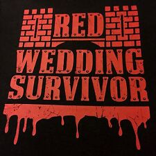 Red Wedding Game of Thrones ASOIAF Men's Size Small Black T-Shirt